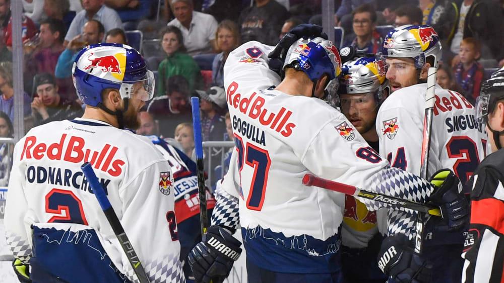 Die Spieler vom EHC Red Bull München