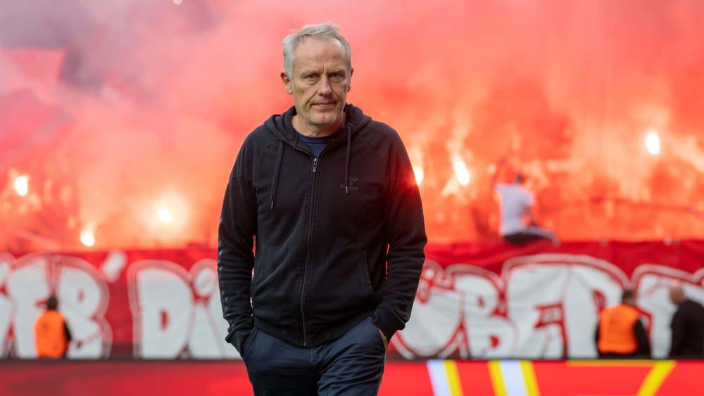 Freiburgs Trainer Christian Streich