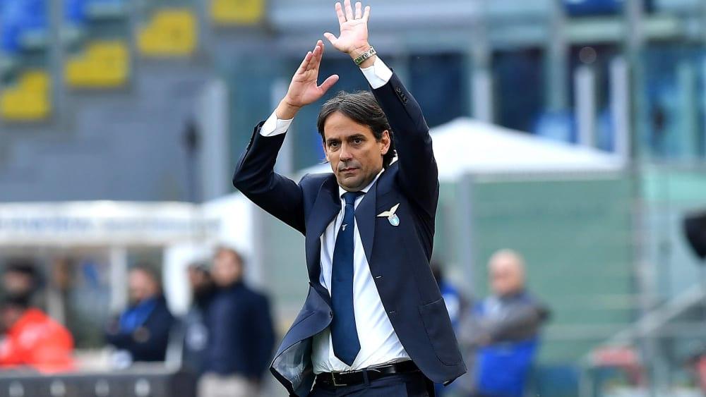 Simone Inzaghi ist Trainer von Lazio Rom.