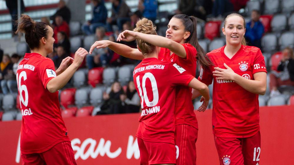 Jubeln die Frauen des FC Bayern auch gegen Lyon?