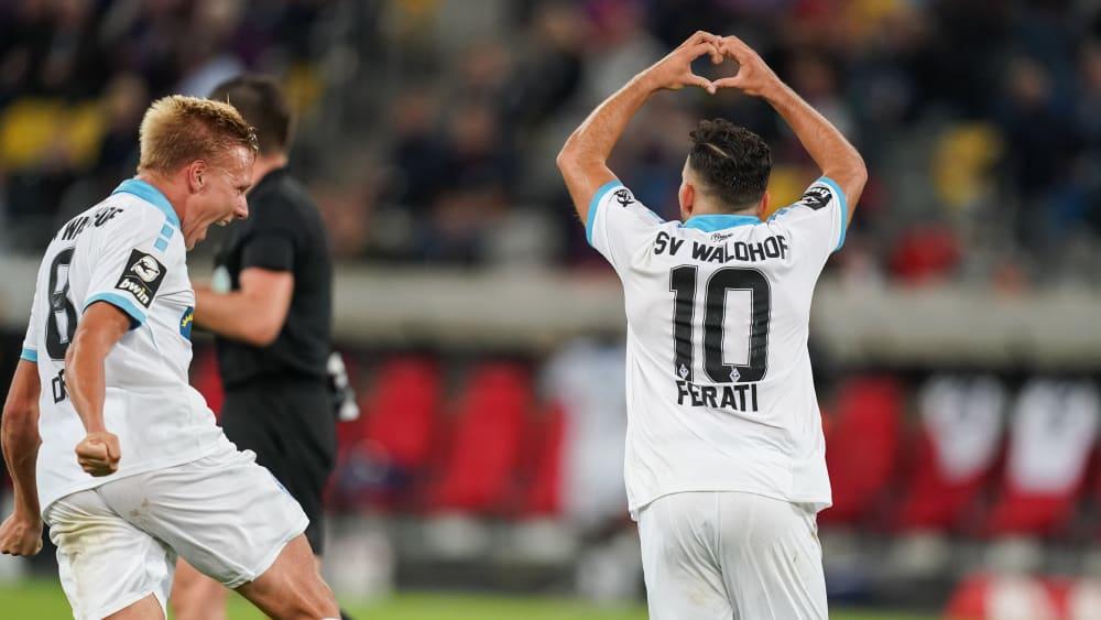 Tolles Tor: Arianit Ferati traf mit viel Gefühl zum 2:0.