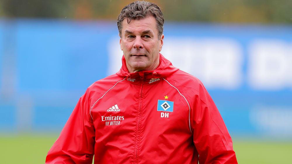 """Hecking mahnt: """"37 Punkte - und ganz Hamburg war in der Bundesliga"""" - HSV-Trainer vor dem Spitzenspiel bei Arminia Bielefeld"""