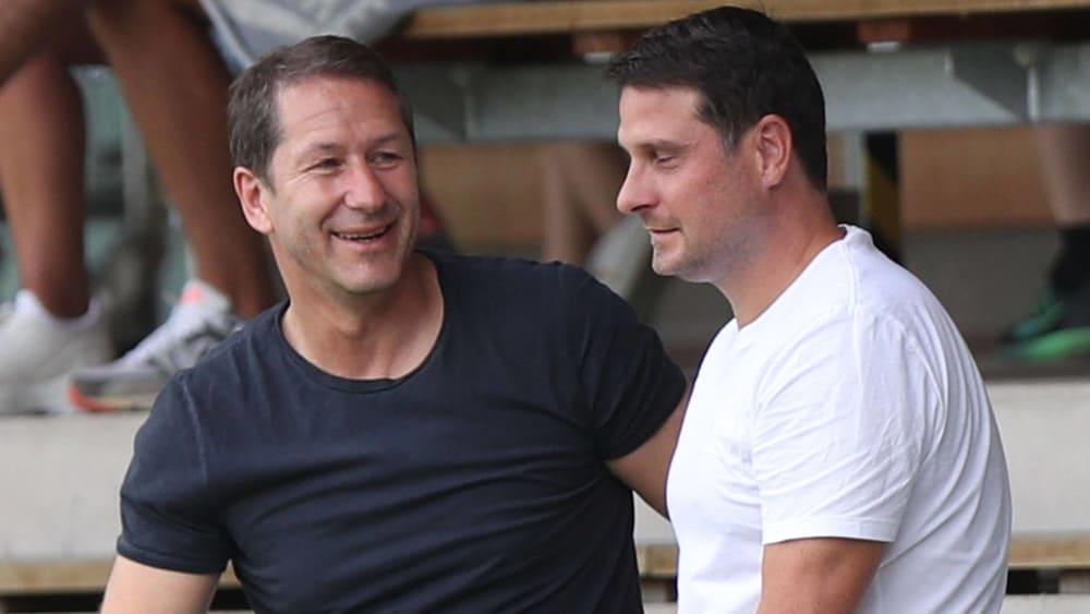Österreichs Nationaltrainer Franco Foda und Imre Szabics