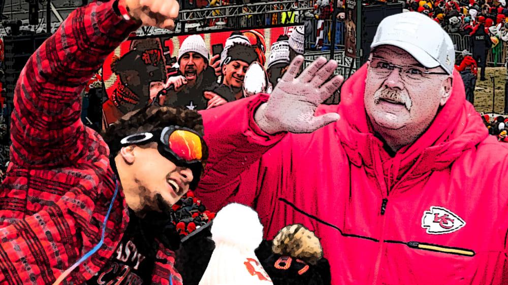 Minusgrade und Skibrillen: Die Chiefs machen Kansas City unsicher - NFL: Der neue Super-Bowl-Sieger feiert den großen Triumph