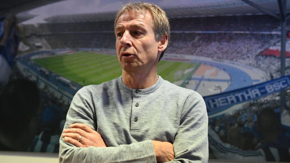 Jürgen Klinsmann ist Trainer von Hertha BSC.