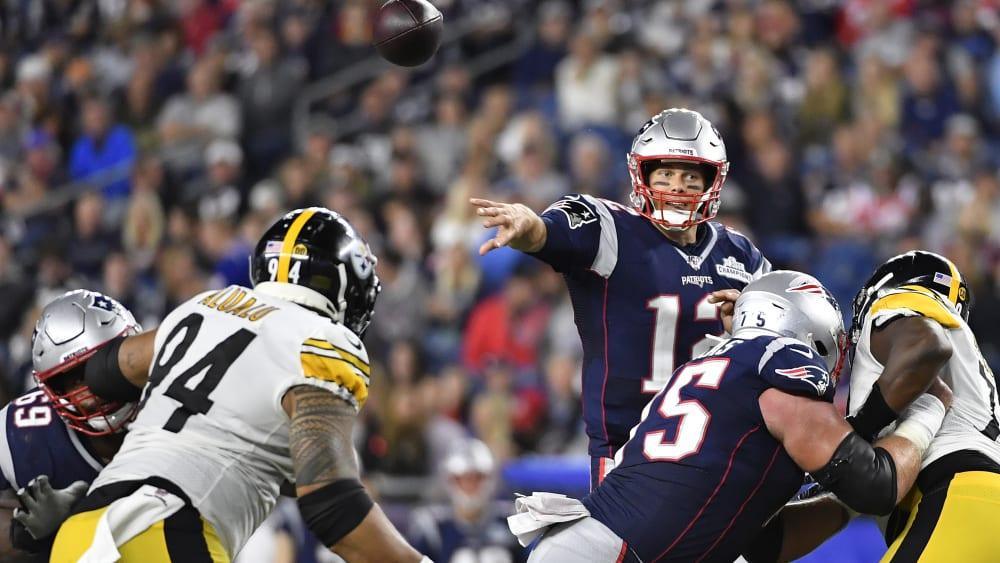 Tom Brady geht seiner Arbeit nach.