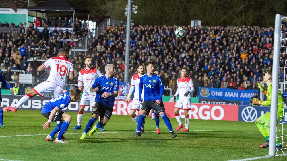 Saarbrücken gegen Düsseldorf in Völklingen