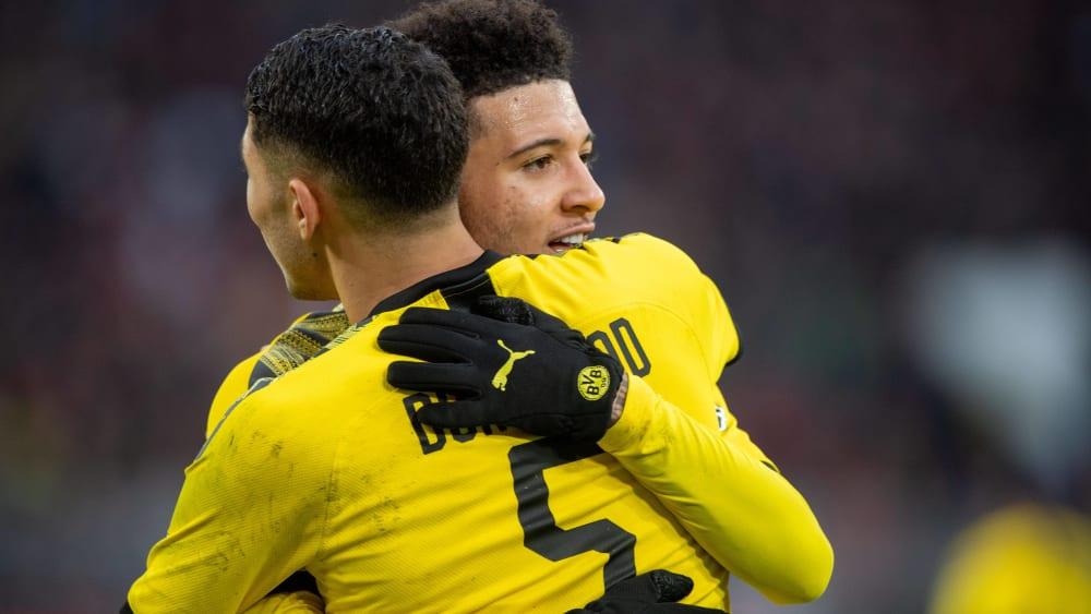 Jadon Sancho und Achraf Hakimi sind Spieler von Borussia Dortmund.