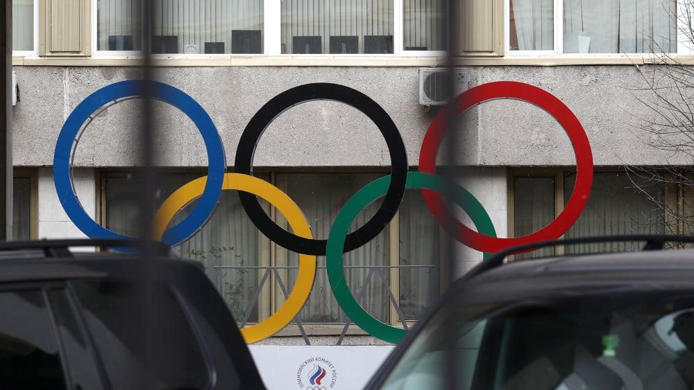 Olympische Ringe in Moskau