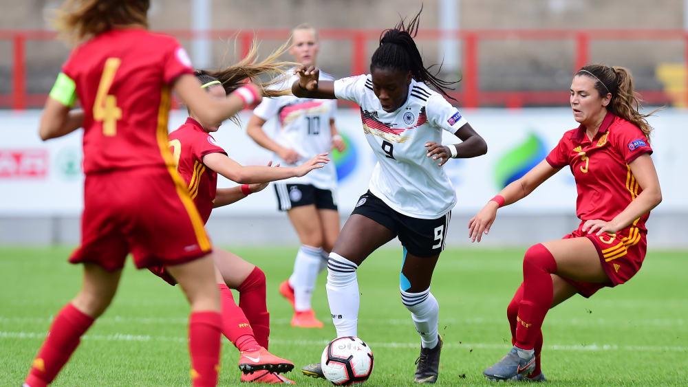 Sie konnte diesmal keine entscheidenden Impulse setzen: DFB-Stürmerin Nicole Anyomi.
