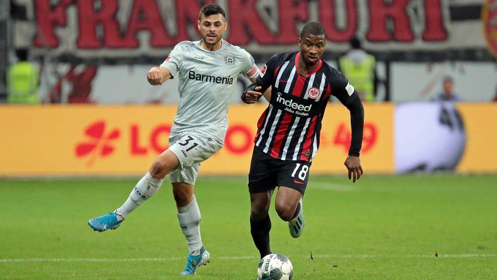 Liefen in Frankfurt viel hinterher: Kevin Volland (l.) und Bayer Leverkusen.