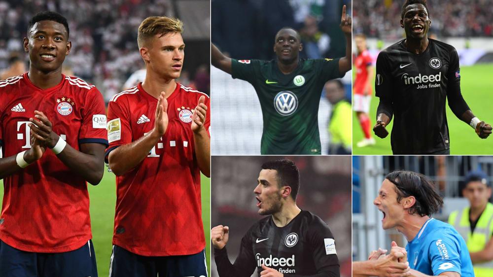Die besten Bundesliga-Spieler auf der defensiven Außenbahn