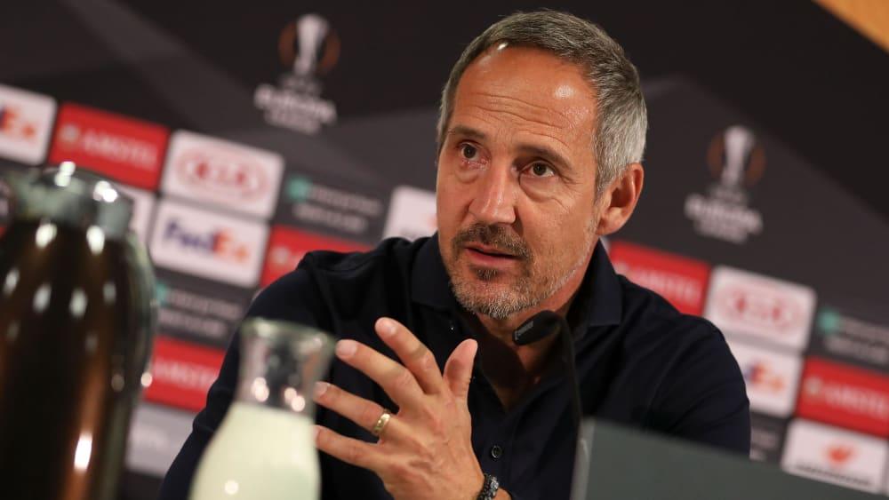 """Hütter: """"Es gibt nichts Schöneres, als gegen den Favoriten zu starten"""" - Frankfurt: Vorsicht vor Aubameyang"""