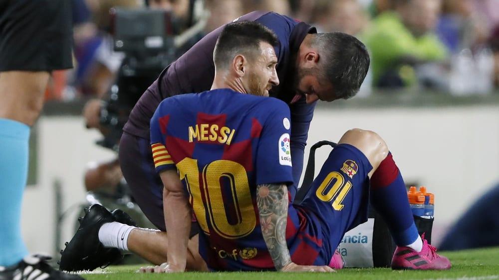 Alles halb so wild: Lionel Messi kehrte schon ins Training zurück.