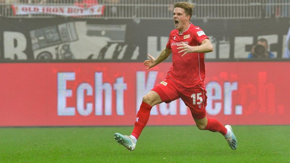 Die Euphorie aufgesogen: Marius Bülter traf an der Alten Försterei in der ersten Minute.