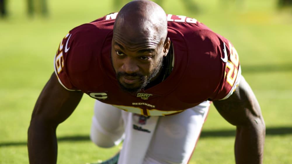 Die 15. NFL-Saison wartet: Peterson läuft weiter für die Redskins auf