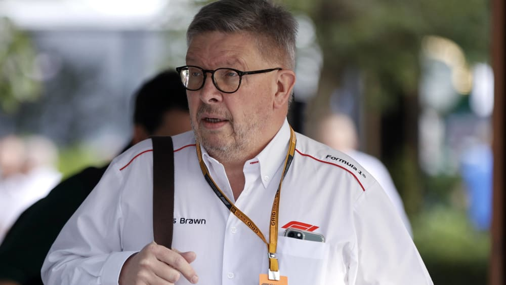 Formel-1-Sportchef Ross Brawn im Albert Park in Melbourne.