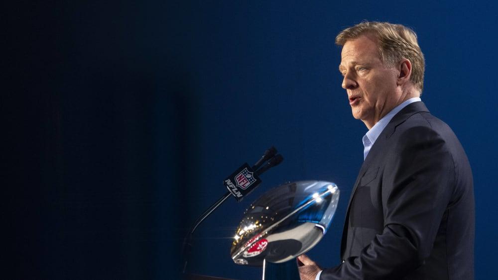 Roger Goodell ist Commissioner der NFL.
