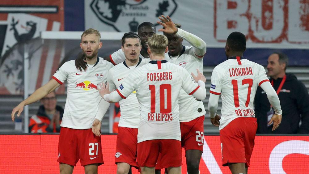 Leipzig jubelt: RB gewann am Mittwochabend mit 2:1 gegen Zenit St. Petersburg.