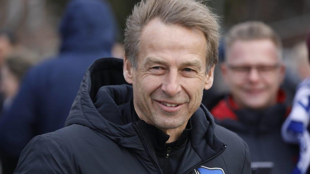 Viel frischer Wind für die Hertha: Trainer Jürgen Klinsmann.