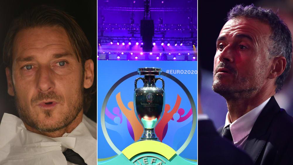 Totti, EM-Pokal und Spanien-Coach Luis Enrique
