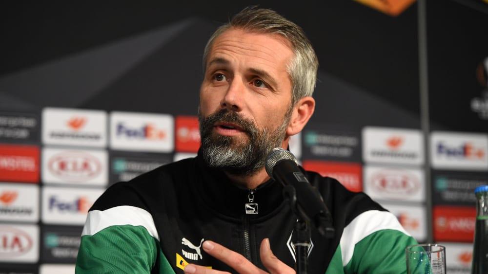 Gladbach-Coach Marco Rose freut sich auf das Spiel gegen Rom
