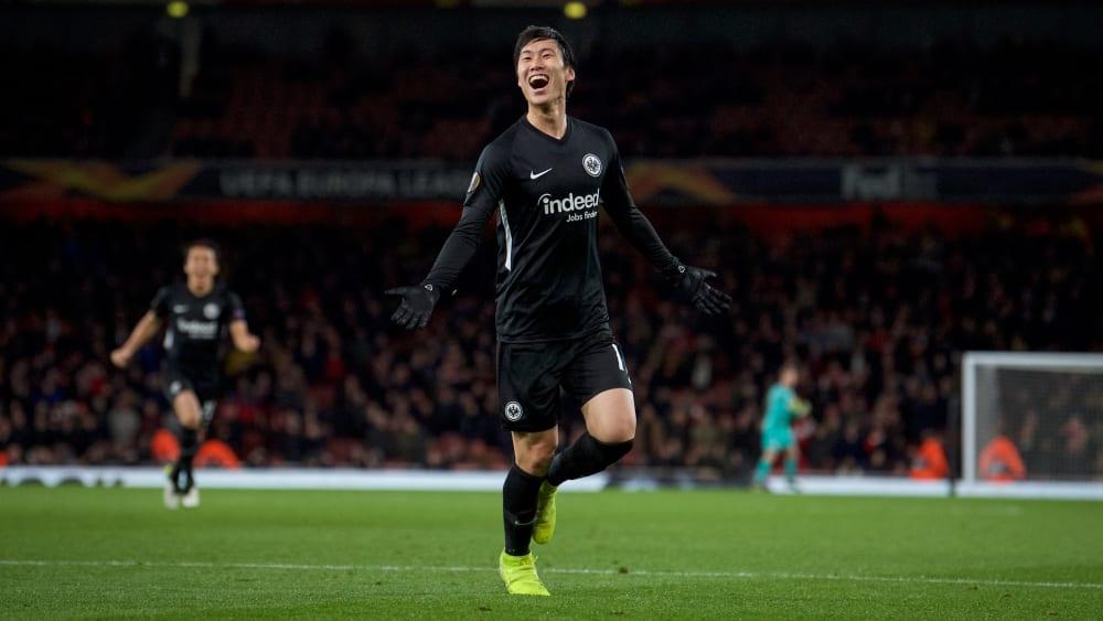 Offensivspieler Daichi Kamada erzielte in London zwei Tore