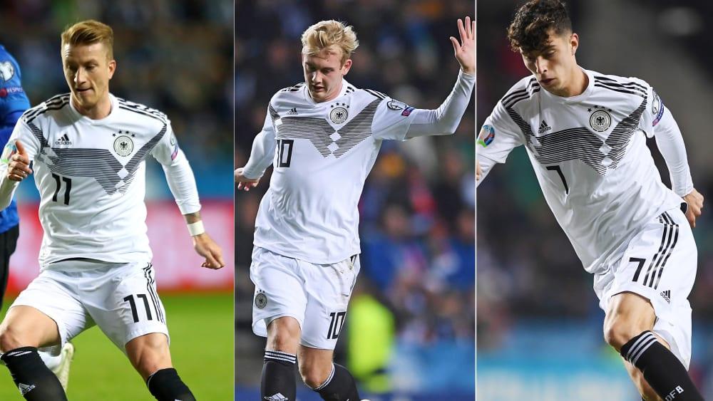Hochveranlagt, aber ohne Körperlichkeit: Marco Reus, Julian Brandt und Kai Havertz.