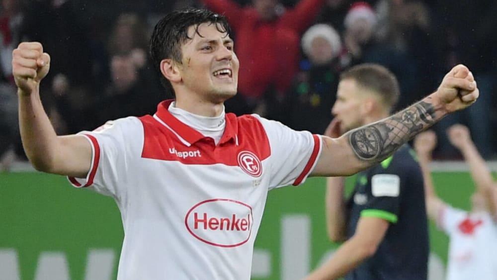 Dawid Kownacki wartet noch auf sein erstes Saisontor für Fortuna Düsseldorf.