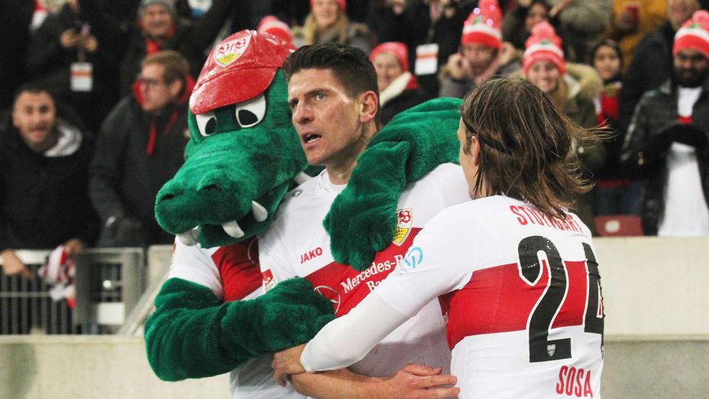 Mario Gomez hat für den VfB Stuttgart getroffen.