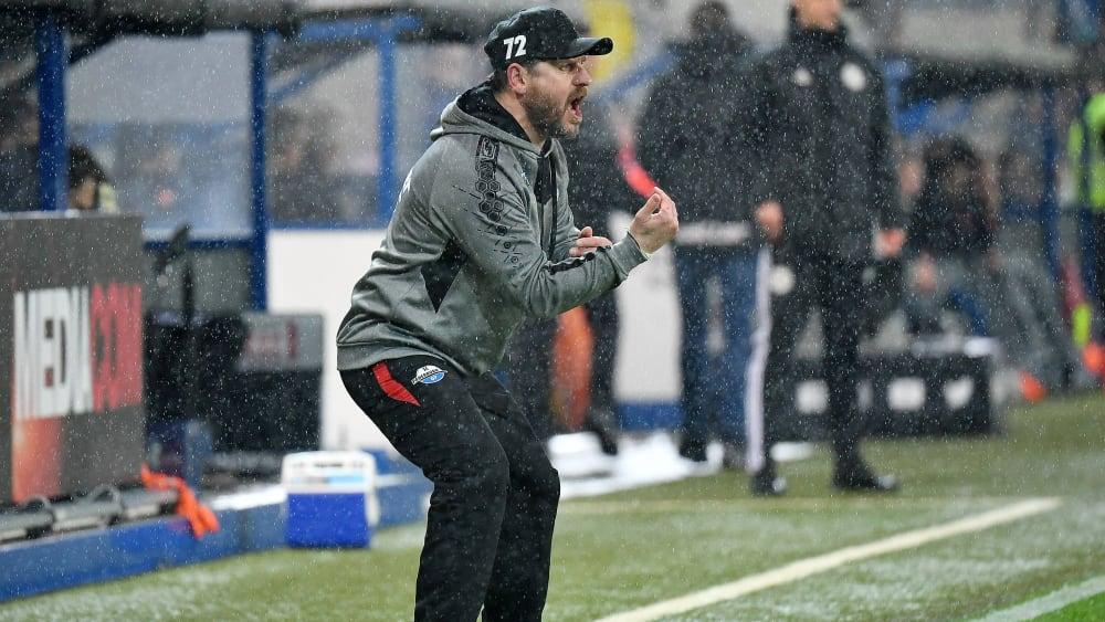 Paderborns Trainer Steffen Baumgart hadert mit dem Schiedsrichter