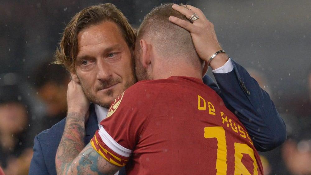 Francesco Totti (links) und Daniele de Rossi