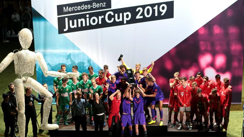 Spielplan und Gruppen des Mercedes-Benz JuniorCups - Vier deutsche Teams mit dabei