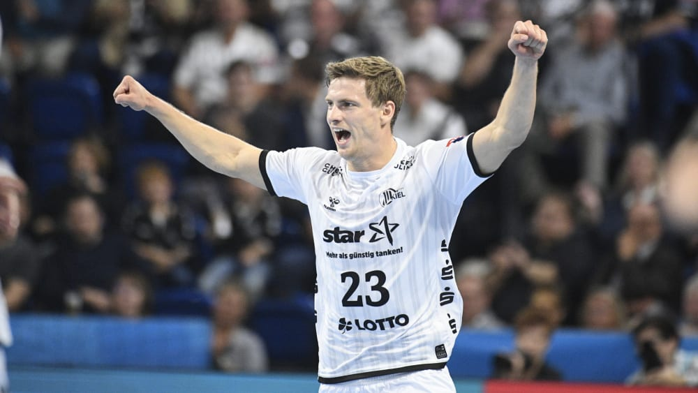 Steuerte fünf Treffer beim Kieler Heimsieg gegen Brest bei: THW-Linksaußen Rune Dahmke.