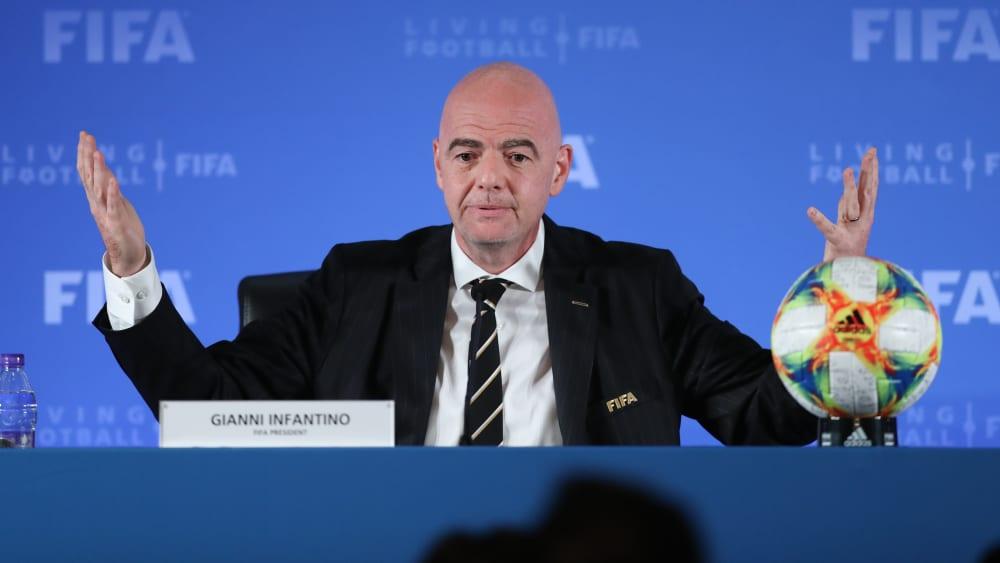 Die Entscheidung der FIFA steht: Gianni Infantino verkündete, dass die Klub-WM in China stattfindet.