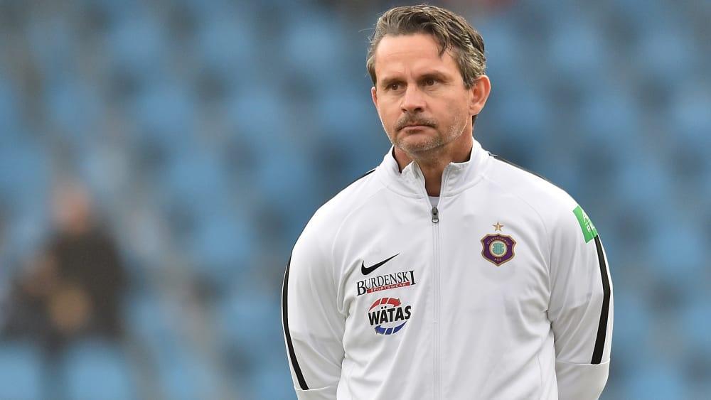 Aues Trainer Dirk Schuster.