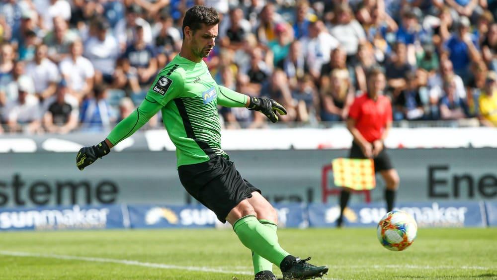 Sieht seine Mannschaft auf Kurs: Waldhof-Keeper Markus Scholz.
