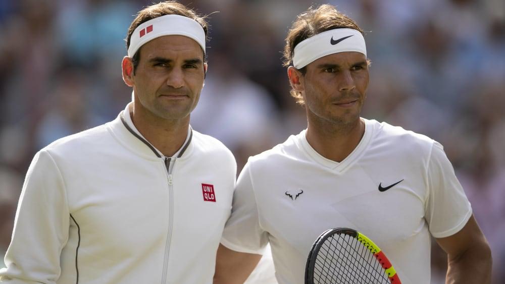 Lebende Tennislegenden: Roger Federer und Rafael Nadal.