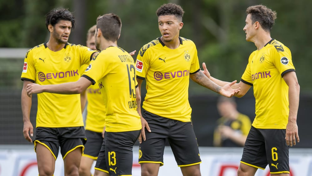 Sehr auffällig: Dortmunds Jadon Sancho (2. v. re.) erzielte drei Tore gegen Zürich