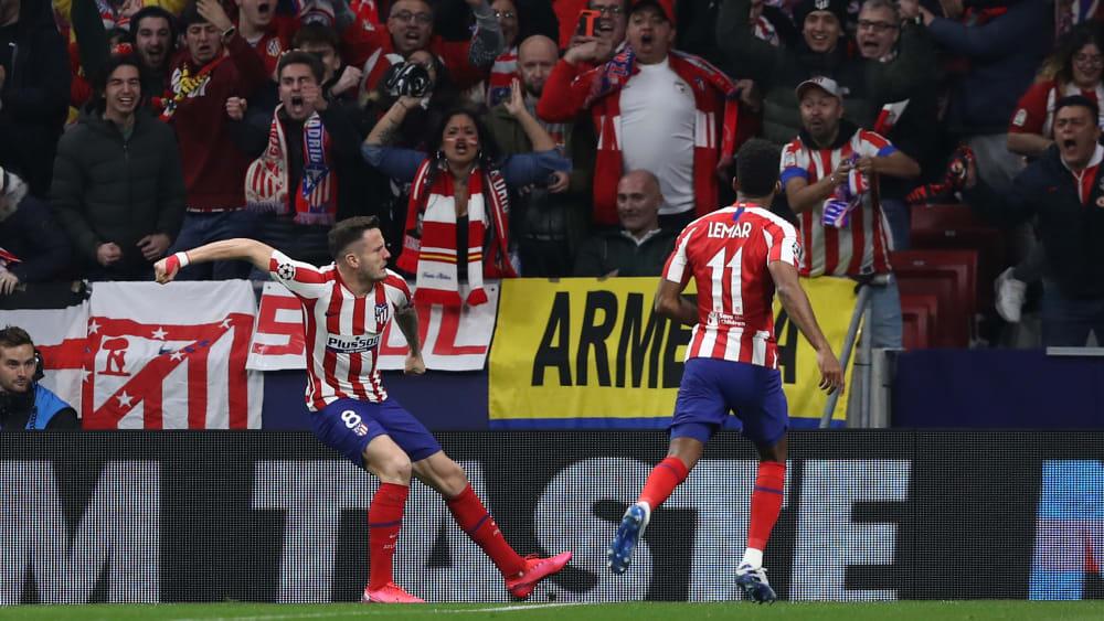 Sein früher Treffer war der einzige des Spiels: Saul Niguez (l.).