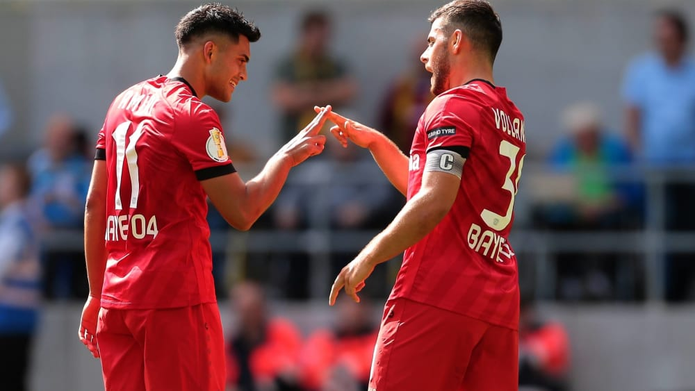 Nadiem Amiri (links) und Kevin Volland