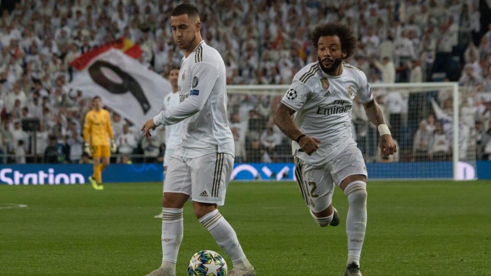 Eden Hazard (l.) und Marcelo