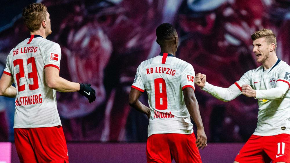 Timo Werner (rechts) ist Spieler von RB Leipzig.