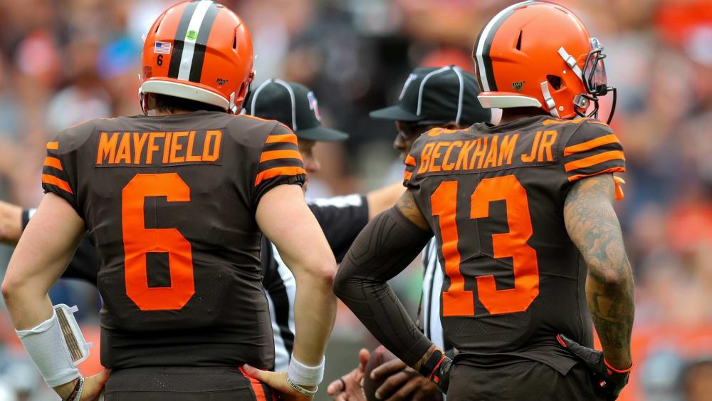 Quarterback Baker Mayfield und Receiver Odell Beckham Junior