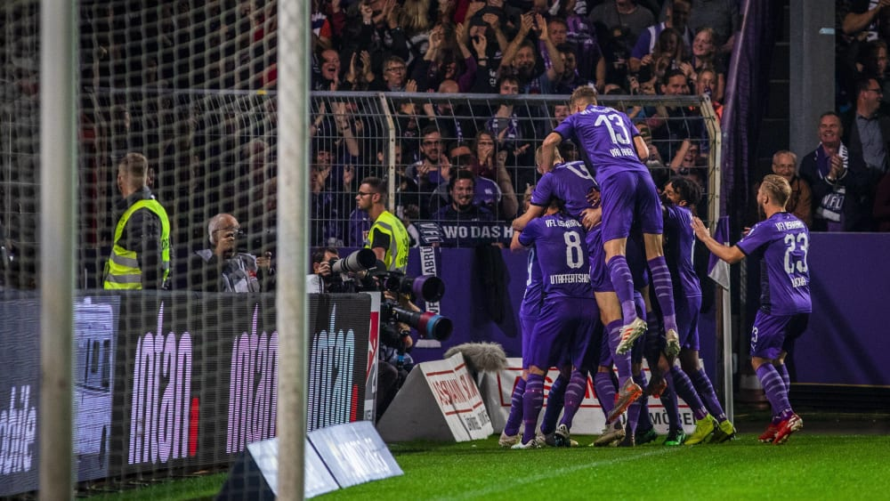 Osnabrück jubelt: Der VfL besiegte Darmstadt am Montagabend deutlich.