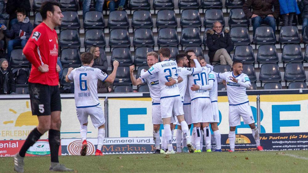 Der 1. FC Magdeburg jubelt spät bei der SG Sonnenhof Großaspach