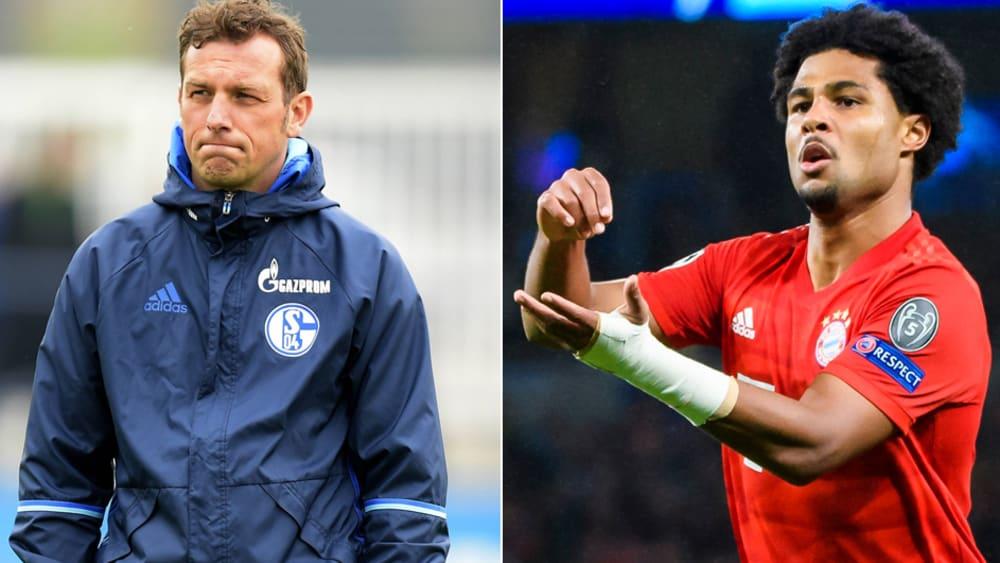 Fanden bei Schalke nicht zusammen: Markus Weinzierl und Serge Gnabry.