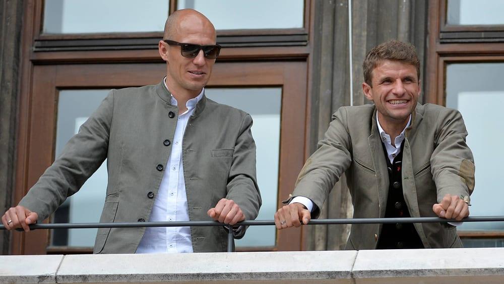Arjen Robben und Thomas Müller