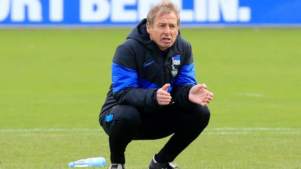 Hertha-Coach Jürgen Klinsmann