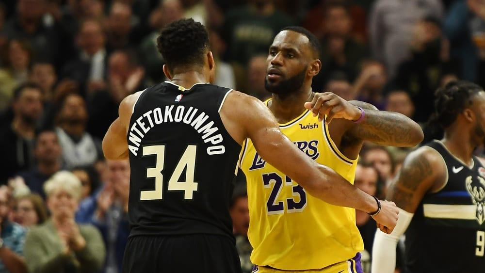 Führen ihre Teams als Kapitän an: Giannis Antetokounmpo und LeBron James.